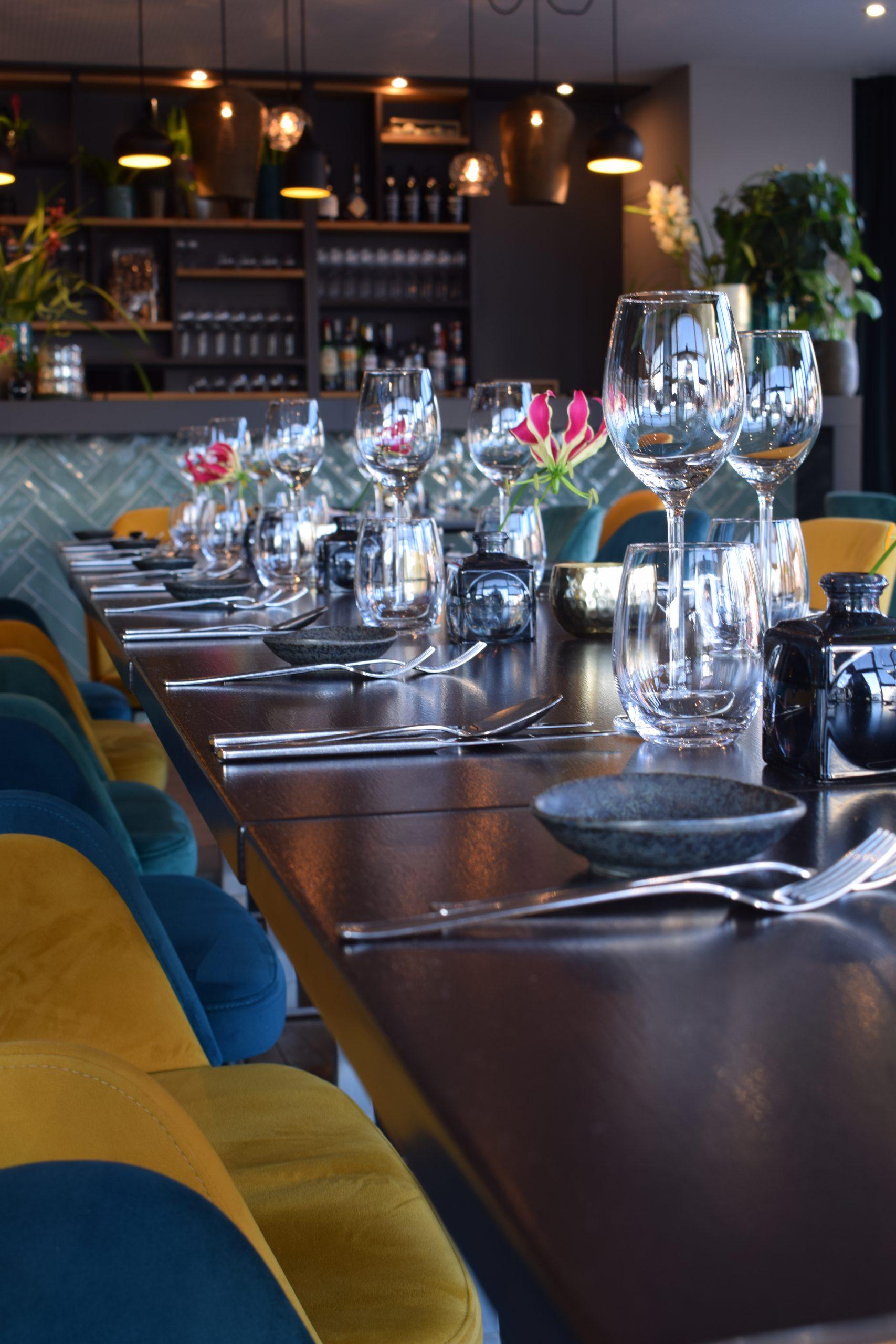 Set table ready for dinner